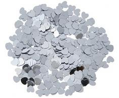Beistle 50622-S Hearts Confetti Konfetti, plastik, silber