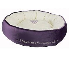 Trixie 37488 Bett Pets Home, ø 50 cm, lila/creme