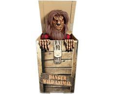 Forum Novelties Animatronic Prop animierte Wolf in einer Box für Party Dekoration, Braun