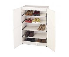 Wenko 64010100 Schuhschrank Butterfly für 15 Paar Schuhe, Polypropylen-Faserstoff, 61 x 90 x 32 cm, beige