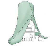 Relaxdays Grill Abdeckhaube, reißfeste Schutzhülle für Gartenkamin, robuste Plane aus Polyethylen 235 x 80 x 50 cm, grün