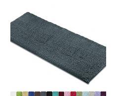 Mayshine Badteppiche für Badezimmerteppich, weich, saugfähig, zottelig, Mikrofaser, maschinenwaschbar, perfekt für Fußmatte 27.5x47 inches grau