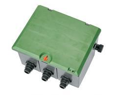Gardena 1255-20 Ventilbox V3, für 3 Ventile 9V/24V, Einbau unterirdisch, Kabelanschlussbox wassergeschützt, Deckel mit Kindersicherrung (Gewinde: 1-Außengewinde, Deckel Farbe: Grün)