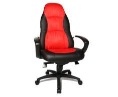 Topstar Chefsessel Speed Chair mit Armlehnen schwarz/rot one size