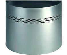 Durable 331623 Papierkorb halbrund 20 Liter, dekorative Perforation 30 mm, silber