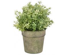 Esschert Design Aged Metal Grün Blumentopf aus veraltetem Metall, 12,2 x 12,2 x 11,7 cm