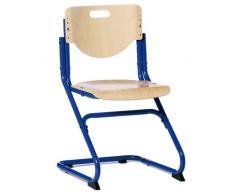 Kettler Chair Plus Schreibtischstuhl Kinder – hochwertiger Kinderschreibtischstuhl MADE IN GERMANY – Bürostuhl ergonomisch & höhenverstellbar – Freischwinger, der mitwächst – Buche & blau