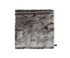 Benuta Shaggy Hochflor Teppich Whisper Quadratisch Grau 60x60 cm   Langflor Teppich für Schlafzimmer und Wohnzimmer