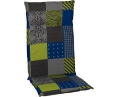 Beo Gartenmöbel Auflage grün Karo Patchwork für Hochlehner Bebra M652