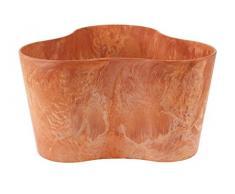 Artstone Pflanzgefäß Pflanzkübel dreieck Claire, frostbeständig und leichtgewichtig, Terra, 26x14cm