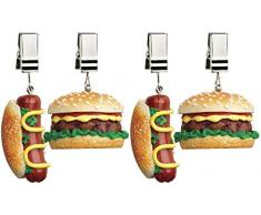 Boston Warehouse Set of 4 Tablecloth Weights, Master Grill