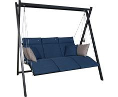 Angerer Relax Hollywoodschaukel 3-Sitzer Smart, denim, 220 x 150 x 210 cm, 7000/271