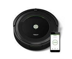 iRobot Roomba 696 Saugroboter (reinigt alle Hartböden und Teppiche, Dirt Detect Technologie, 3-Stufen-Reinigungssystem, WLAN-fähig und per App programmierbar und Zubehör) schwarz