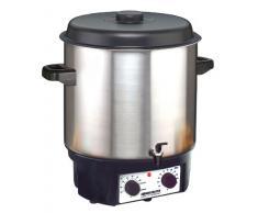 ROMMELSBACHER KA 2004/E Küchenmaschine (1800 W, Glühwein und Einkochvollautomat) edelstahl/schwarz