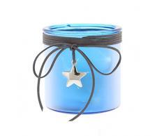 Festive Productions p014773 10 cm batteriebetrieben beleuchtet Star Effekt Laterne mit Stern Anhänger – Rot