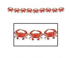 Beistle 57445 - Krebse Luftschlange 1 Teil rot/weiß