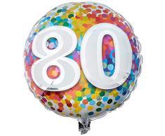 Qualatex Folienballon 49559 80 Rainbow Konfetti, 45,7 cm farbenreiche