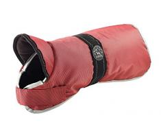 HUNTER Denali Reflect Hundemantel, Wintermantel, Fleecefutter, wasser- und windabweisend, reflektierend, 40, rot