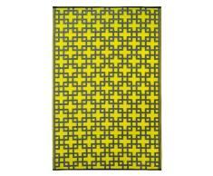 FabHabitat 022099179573 Rheinsberg Teppich, 150 x 240 cm, sonnen gelb / umbra grau