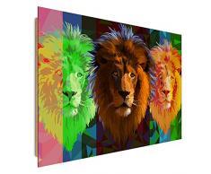 Wandbild, Deco Bild, gedrucktes Bild, Deco Panel, Bild, 78x118 cm, MODERNE, LÖWE, ZUSAMMENSETZUNG, MULTICOLOR, POLYGONALE