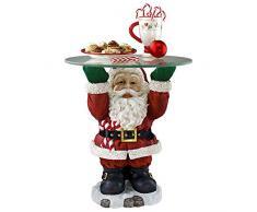Weihnachtsschmuck - Santa Claus Glas Gekrönt Feiertags-Dekor Beistelltisch