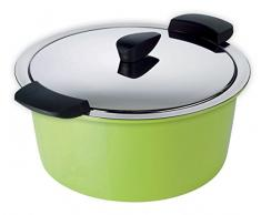 KUHN RIKON 30741 Thermokochgeschirr HOTPAN Kochtopf mit Deckel, grün, 2 Liter, 18 cm, dampfgaren, warmhalten, induktionsgeeignet, spülmaschinengeeignet, Edelstahl