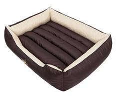 Hobbydog CORBZK6 Hundebett, Sofa, Korb Tierbett Comfort, Größe XL, 82 x 62 cm, braun mit Sahne