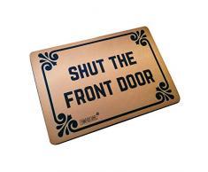 Funny die Sauberlaufmatten der Vorderseite Tür – langlebig-Maschinenwaschbar Fußmatte 59,9 cm (L) X 39,9 cm (W) Zoll
