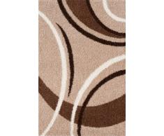 Lalee 347121038 Designer Hochflor Shaggy Teppich / Weich / Muster : Streifen und Wellen / TOP Preis / Beige / Grösse : 160 x 230 cm