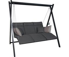 Angerer Relax Hollywoodschaukel 3-Sitzer Smart, stone grau, 220 x 150 x 210 cm, 7000/273