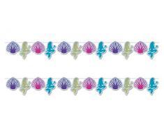 Beistle 54962 Luftschlangen, Meerjungfrau und Muschel, 22,9 x 30,5 cm, mehrfarbig