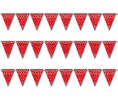 Beistle Teppich Läufer, Rot/Schwarz/Weiß