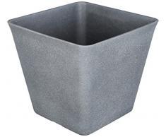TS Pflanzgefäß, Cera-Mix Pflanzkübel Sara, frostbeständig und leichtgewichtig, greywash, 24x24x21 cm, 136555