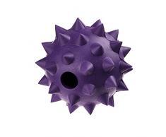 Classic Pet Products Gummi Spike Ball mit Glocke, Groß, 90 mm, violett