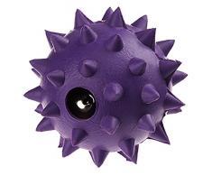 Classic Pet Products Gummi Spike Ball mit Glocke, klein, 50 mm, violett