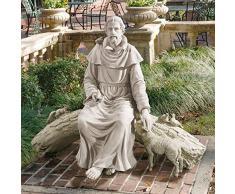 Design Toscano Zuflucht in der Natur, Hl. Franziskus, Gartenfigur