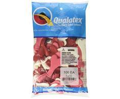 Qualatex 15,2 cm Latex Herzen Luftballons, liebe Sortiment (100 Stück)