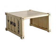 SIT-Möbel 5680-10 Couchtisch Highcube, 70 x 70 x 40 cm, Schmiedeeisernes Blech, cremeweiß