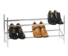 Premier Housewares Schuhregal, 2-stöckig, ausziehbar, 36 x 113 x 22 cm, Chrom