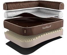 Knuffelwuff 13871-002 Orthopädisches Eck Hundebett Ortho Bed Arizona - Größe L, 83 x 63 cm, braun