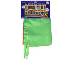Beistle 50948-RWG Wimpelkette, 5 m, 25,4 cm, rot/weiß und grün