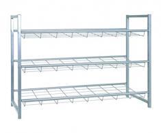 HAKU Möbel 38717 Schuhregal, 30 x 80 x 60 cm, aluminium