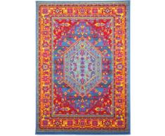 benuta Vintage Teppich im Used-Look Swing Blau 80x150 cm | Moderner Teppich für Schlafzimmer und Wohnzimmer