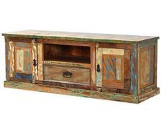SIT-Möbel 9115-98 Lowboard, 2 Holztüren, 1 Schublade, 1 offenes Fach, 140 x 40 x 50 cm