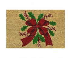 Verdemax 5457 rechteckig Weihnachten Blume Design Fußmatte, 40 x 60 cm