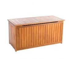 Ultranatura Auflagenbox mit Gasdruckdämpfer, Canberra Serie - Edles & Hochwertiges Eukalyptusholz FSC zertifiziert - 125 x 55 x 61 cm