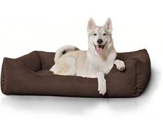Knuffelwuff Hundebett XL Hundekissen Hundesofa Hundekorb waschbar Dreamline Braun