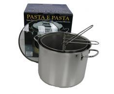 VISCIO Trading 173957. Kochtopf Pasta und 2 Körben Edelstahl AISI 441 Deckel aus Glas, 24 cm
