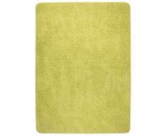 misento 292124 Langflor Teppich Hochflorteppich Shaggy einfarbig weicher Flor uni, 100 x 150 cm, grün