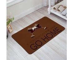 Libaoge Cartoon Rot Wein Gläser Cheers Go Home Fußmatte Fußmatten-Entrance Mat Fußmatte Teppich Matte 18x30 Braun